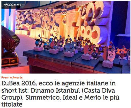Eubea 2016 the italian agencies in short list dinamo istanbul casta diva group simmetrico - Casta diva group ...
